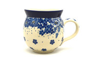 Ceramika Artystyczna Polish Pottery Mug - 11 oz. Bubble - Blue Bayou 070-1975a (Ceramika Artystyczna)