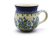 Ceramika Artystyczna Polish Pottery Mug - 11 oz. Bubble - Blue Bells 070-1432a (Ceramika Artystyczna)