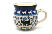 Ceramika Artystyczna Polish Pottery Mug - 11 oz. Bubble - Boo Boo Kitty 070-1771a (Ceramika Artystyczna)