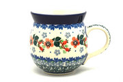 Ceramika Artystyczna Polish Pottery Mug - 11 oz. Bubble - Cherry Blossom 070-2103a (Ceramika Artystyczna)
