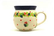 Ceramika Artystyczna Polish Pottery Mug - 11 oz. Bubble - Christmas Holly 070-2541a (Ceramika Artystyczna)
