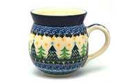 Ceramika Artystyczna Polish Pottery Mug - 11 oz. Bubble - Christmas Trees 070-1284a (Ceramika Artystyczna)