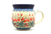 Ceramika Artystyczna Polish Pottery Mug - 11 oz. Bubble - Crimson Bells 070-1437a (Ceramika Artystyczna)