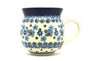Ceramika Artystyczna Polish Pottery Mug - 11 oz. Bubble - Denim Daisy 070-1985a (Ceramika Artystyczna)