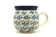 Ceramika Artystyczna Polish Pottery Mug - 11 oz. Bubble - Forget-Me-Knot 070-2089a (Ceramika Artystyczna)