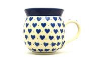 Ceramika Artystyczna Polish Pottery Mug - 11 oz. Bubble - Hearts Delight 070-570Ba (Ceramika Artystyczna)
