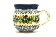 Ceramika Artystyczna Polish Pottery Mug - 11 oz. Bubble - Holly Berry 070-1734a (Ceramika Artystyczna)
