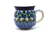 Ceramika Artystyczna Polish Pottery Mug - 11 oz. Bubble - Huckleberry 070-1413a (Ceramika Artystyczna)