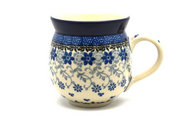 Ceramika Artystyczna Polish Pottery Mug - 11 oz. Bubble - Silver Lace 070-2158a (Ceramika Artystyczna)