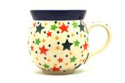 Ceramika Artystyczna Polish Pottery Mug - 11 oz. Bubble - Star Studded 070-2258a (Ceramika Artystyczna)