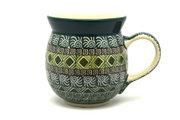 Ceramika Artystyczna Polish Pottery Mug - 15 oz. Bubble - Aztec Forest 073-1919q (Ceramika Artystyczna)