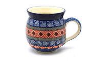 Ceramika Artystyczna Polish Pottery Mug - 15 oz. Bubble - Aztec Sun 073-1350a (Ceramika Artystyczna)