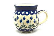 Ceramika Artystyczna Polish Pottery Mug - 15 oz. Bubble - Bleeding Heart 073-377o (Ceramika Artystyczna)