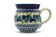 Ceramika Artystyczna Polish Pottery Mug - 15 oz. Bubble - Blue Berries 073-1416a (Ceramika Artystyczna)