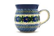 Ceramika Artystyczna Polish Pottery Mug - 15 oz. Bubble - Blue Pansy 073-1552a (Ceramika Artystyczna)