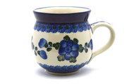 Ceramika Artystyczna Polish Pottery Mug - 15 oz. Bubble - Blue Poppy 073-163a (Ceramika Artystyczna)