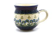 Ceramika Artystyczna Polish Pottery Mug - 15 oz. Bubble - Blue Spring Daisy 073-614a (Ceramika Artystyczna)