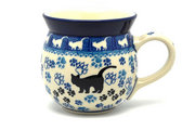 Ceramika Artystyczna Polish Pottery Mug - 15 oz. Bubble - Boo Boo Kitty 073-1771a (Ceramika Artystyczna)