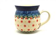 Ceramika Artystyczna Polish Pottery Mug - 15 oz. Bubble - Cherry Jubilee 073-2284a (Ceramika Artystyczna)