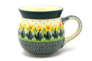 Ceramika Artystyczna Polish Pottery Mug - 15 oz. Bubble - Daffodil 073-2122q (Ceramika Artystyczna)