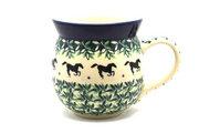 Ceramika Artystyczna Polish Pottery Mug - 15 oz. Bubble - Dark Horse 073-2241a (Ceramika Artystyczna)