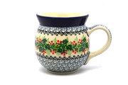 Ceramika Artystyczna Polish Pottery Mug - 15 oz. Bubble - Holly Berry 073-1734a (Ceramika Artystyczna)
