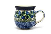 Ceramika Artystyczna Polish Pottery Mug - 15 oz. Bubble - Huckleberry 073-1413a (Ceramika Artystyczna)