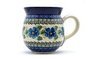 Ceramika Artystyczna Polish Pottery Mug - 15 oz. Bubble - Morning Glory 073-1915a (Ceramika Artystyczna)