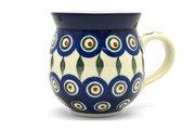 Ceramika Artystyczna Polish Pottery Mug - 15 oz. Bubble - Peacock 073-054a (Ceramika Artystyczna)