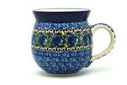 Ceramika Artystyczna Polish Pottery Mug - 15 oz. Bubble - Peacock Feather 073-1513a (Ceramika Artystyczna)