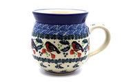 Ceramika Artystyczna Polish Pottery Mug - 15 oz. Bubble - Red Robin 073-1257a (Ceramika Artystyczna)