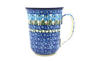 Ceramika Artystyczna Polish Pottery Mug - 16 oz. Bistro - Antique Rose 812-1390a (Ceramika Artystyczna)