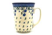 Ceramika Artystyczna Polish Pottery Mug - 16 oz. Bistro - Blue Clover 812-1978a (Ceramika Artystyczna)