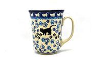 Ceramika Artystyczna Polish Pottery Mug - 16 oz. Bistro - Boo Boo Kitty 812-1771a (Ceramika Artystyczna)