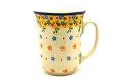 Ceramika Artystyczna Polish Pottery Mug - 16 oz. Bistro - Buttercup 812-2225a (Ceramika Artystyczna)
