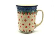 Ceramika Artystyczna Polish Pottery Mug - 16 oz. Bistro - Cherry Jubilee 812-2284a (Ceramika Artystyczna)