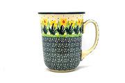 Ceramika Artystyczna Polish Pottery Mug - 16 oz. Bistro - Daffodil 812-2122q (Ceramika Artystyczna)