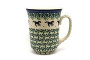 Ceramika Artystyczna Polish Pottery Mug - 16 oz. Bistro - Dark Horse 812-2241a (Ceramika Artystyczna)