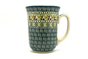 Ceramika Artystyczna Polish Pottery Mug - 16 oz. Bistro - Mint Chip 812-2195q (Ceramika Artystyczna)