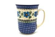 Ceramika Artystyczna Polish Pottery Mug - 16 oz. Bistro - Morning Glory 812-1915a (Ceramika Artystyczna)
