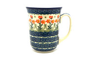 Ceramika Artystyczna Polish Pottery Mug - 16 oz. Bistro - Peach Spring Daisy 812-560a (Ceramika Artystyczna)