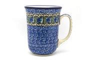 Ceramika Artystyczna Polish Pottery Mug - 16 oz. Bistro - Peacock Feather 812-1513a (Ceramika Artystyczna)