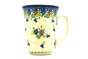 Ceramika Artystyczna Polish Pottery Mug - 16 oz. Bistro - Plum Luck 812-2509a (Ceramika Artystyczna)