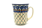 Ceramika Artystyczna Polish Pottery Mug - 16 oz. Bistro - Primrose 812-854a (Ceramika Artystyczna)
