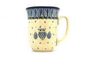 Ceramika Artystyczna Polish Pottery Mug - 16 oz. Bistro - Unikat Signature U4873 812-U4873 (Ceramika Artystyczna)