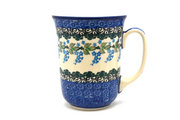 Ceramika Artystyczna Polish Pottery Mug - 16 oz. Bistro - Wisteria 812-1473a (Ceramika Artystyczna)