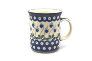 Ceramika Artystyczna Polish Pottery Mug - Big Straight Sided - Bleeding Heart B13-377o (Ceramika Artystyczna)