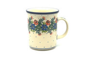 Ceramika Artystyczna Polish Pottery Mug - Big Straight Sided - Garden Party B13-1535a (Ceramika Artystyczna)