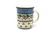 Ceramika Artystyczna Polish Pottery Mug - Big Straight Sided - Red Robin B13-1257a (Ceramika Artystyczna)