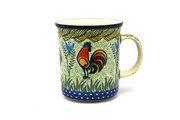 Ceramika Artystyczna Polish Pottery Mug - Big Straight Sided - Unikat Signature - U2663 B13-U2663 (Ceramika Artystyczna)
